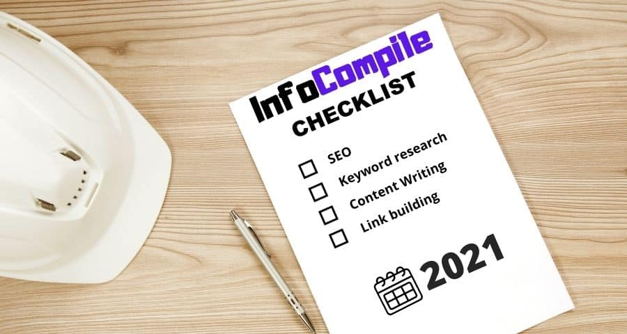 Checklists for SEO, Keyword research, Content Writing, Link building